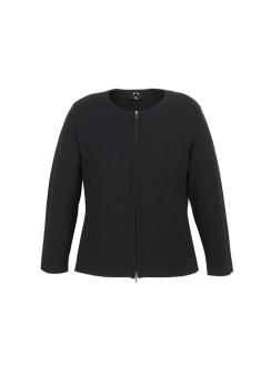Ladies 2 Way Zip Cardigan LC3505 Black