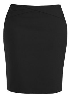 Ladies Chevron Band Skirt 20114 Black