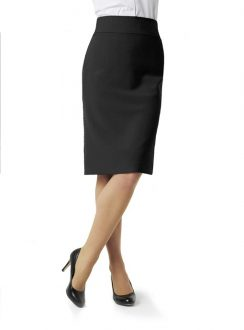 Ladies Classic Below Knee Skirt BS29323 Black