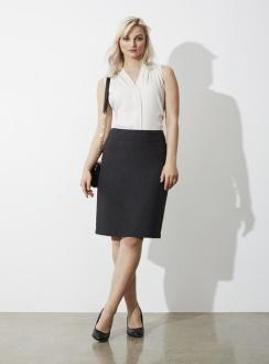 Ladies Classic Knee Length Skirt BS128LS