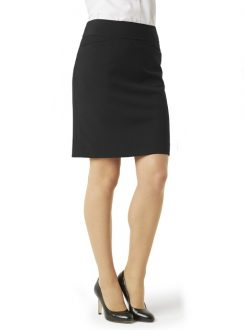 Ladies Classic Knee Length Skirt BS128LS Black