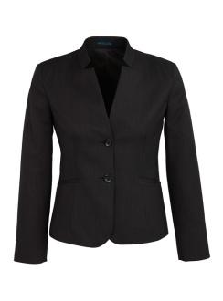 Ladies Short Jacket with Reverse Lapel 60113 Black