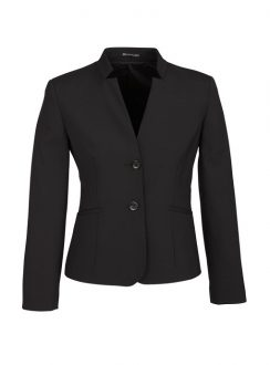 Ladies Short Jacket with Reverse Lapel 64013 Black