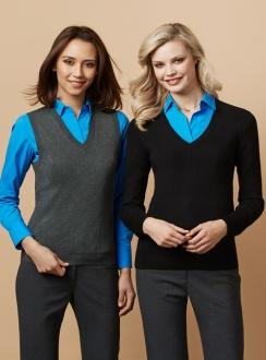 Ladies VNeck Pullover LP3506