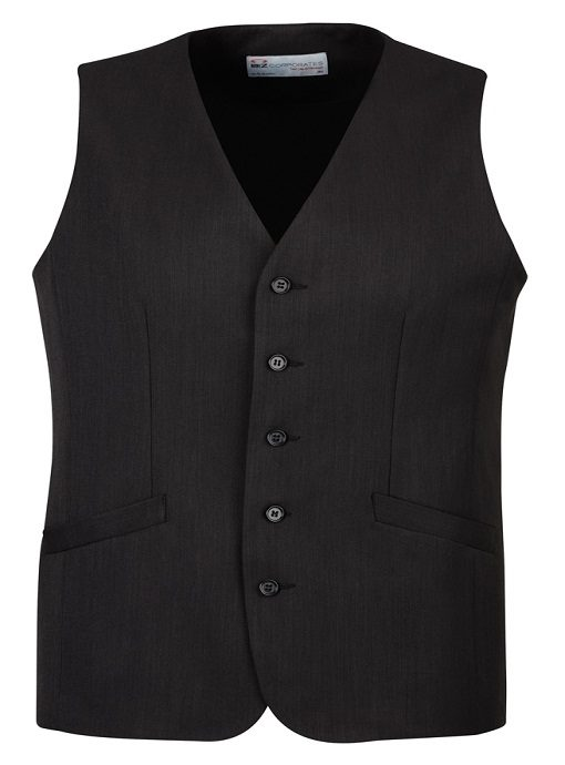 Mens Longline Vest 90112 Black