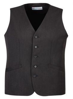 Mens Longline Vest 90112 Charcoal