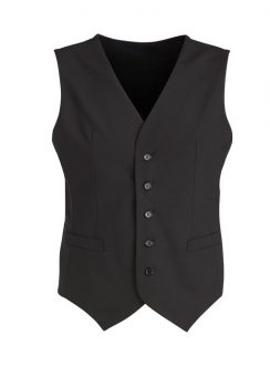 Mens Peaked Vest with Knitted Back 94011 Black