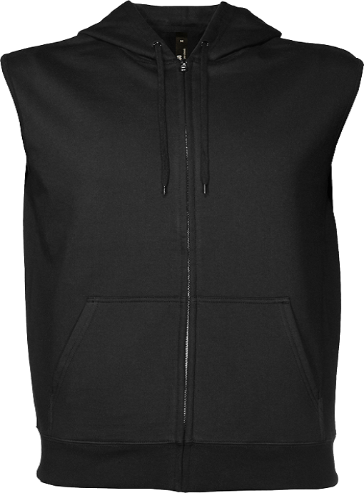 66866639e60a65 Mens 360 Zip Sleeveless Hooded Sweatshirt by Cloke - Online Uniforms