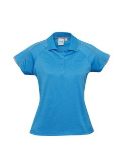 Ladies Blade Polo P303LS Cyan Silver