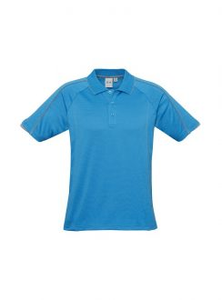Mens Blade Polo P303MS Cyan Silver