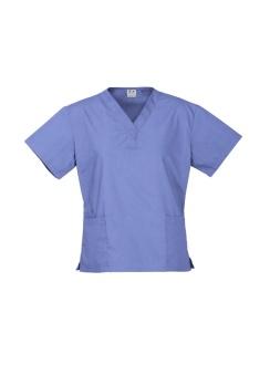 Ladies Classic Scrubs Top H10622 Mid Blue
