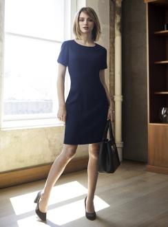 Ladies Short Sleeve Shift Dress 30112