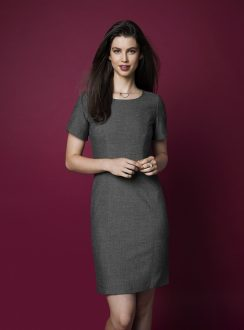 Ladies Short Sleeve Shift Dress 30312