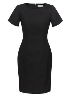 Ladies Short Sleeve Shift Dress 34012 Black