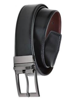 Mens Leather Reversible Belt 99300 Black