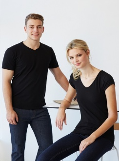 Mens Cotton/Elastane T-Shirts
