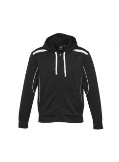 Adults United Hooded Sweatshirt SW310M Black White