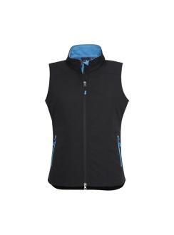 Ladies Geneva Vest J404L Black Cyan