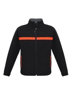 Adults Charger Jacket J510M Black Fluro Orange Grey