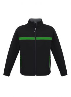 Adults Charger Jacket J510M Black Green Grey