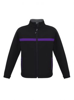 Adults Charger Jacket J510M Black Purple Grey