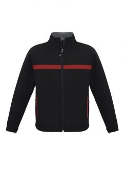 Adults Charger Jacket J510M Black Red Grey
