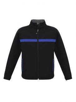 Adults Charger Jacket J510M Black Royal Grey