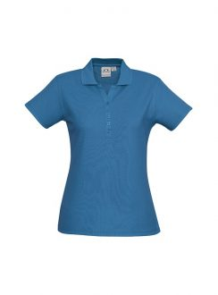Ladies Crew Polo P400LS Cyan
