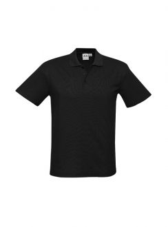 Mens Crew Polo P400MS Black