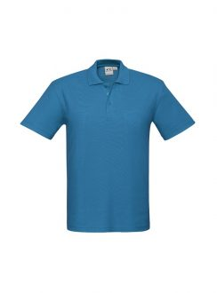 Mens Crew Polo P400MS Cyan