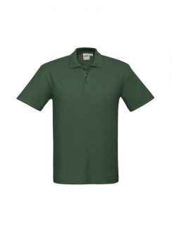 Mens Crew Polo P400MS Forest