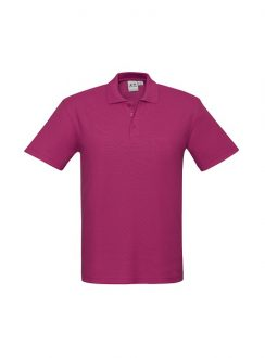 Mens Crew Polo P400MS Fuchsia