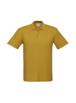 Mens Crew Polo P400MS Gold