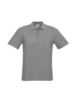Mens Crew Polo P400MS Grey Marle