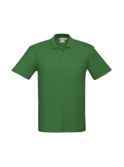 Mens Crew Polo P400MS Kelly Green