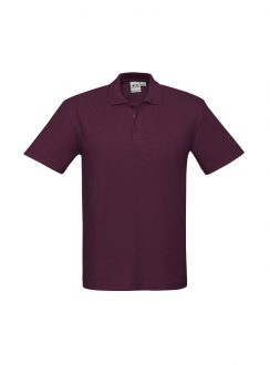 Mens Crew Polo P400MS Maroon