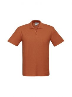 Mens Crew Polo P400MS Orange