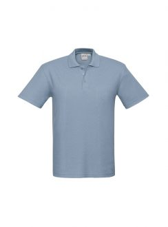 Mens Crew Polo P400MS Spring Blue