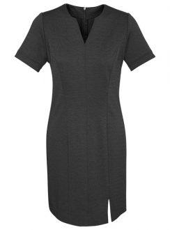 Ladies Open Neck Dress 30620 Charcoal