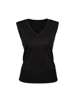 Ladies Milano Vest LV619L Black