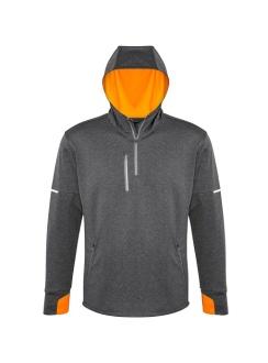 Mens Pace Hoodie SW635M Grey Fluro Orange