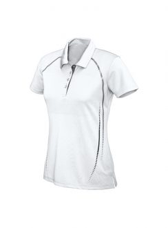 Ladies Cyber Polo P604LS White Silver