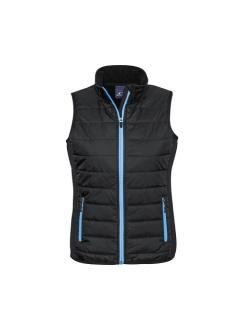 Ladies Stealth Vest J616L Black Cyan