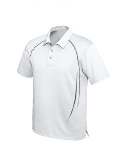 Mens Cyber Polo P604MS White Silver