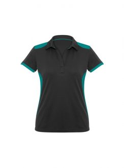 Ladies Rival Polo P705LS BlackTeal