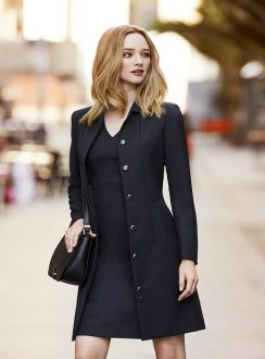 Ladies Lined Overcoat 63830