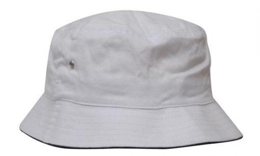 Brushed Sports Twill Bucket Hat with Sandwich Trim by Headwear - Online  Uniforms 7aee78e553d3