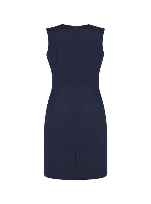 f904833b84a5b4 Ladies Wool VNeck Sleeveless Dress by Biz Corporates - Online Uniforms